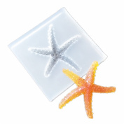 Sea Star DIY Clay Pendant Silicone Mould, Crafting, Resin Epoxy, Jewellery Earrings Making, DIY Mobile Phone Decoration Tools,Semi-Transparent