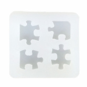 DIY Puzzle Pendant Clay Silicone Mould, Crafting, Resin Epoxy, Jewellery Earrings Making, DIY Mobile Phone Decoration Tools,Semi-Transparent