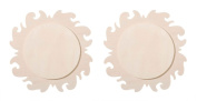 Natural Wood Unpainted Arts and Crafts Cutout - Sun - 2 Pack