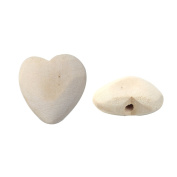 20 Heart Unfinished Wood Beads 26mm Diameter 2.7mm Large Hole