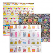 Pack of 3 Gift Wrapping Paper Rolls - Birthday Wrapping Paper - Happy Birthday Gift Wrap, 5.3m Each