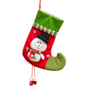 Vmree Christmas Candy gifts Bag Beads Santa Claus Snowman Socks Tree Home Decorations