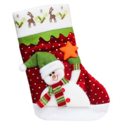 Vmree Christmas Candy gifts Bag Beads Christmas Santa Claus Snowman Socks Decorations