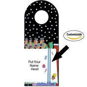 Santa Slide Funny Christmas Wine Bottle Tag - Personalise With Your Name - Custom Wine Gift Tags