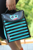 BUFFALO Thermal Insulated Lunch Bags. Reusable, Foldable, Fun design. For Kids, Boy, Girl Or Toddler. Food Container Cooler Warm Pouch for School Picnic.