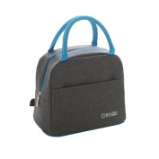 Baling Grey Washable Oxford Cloth Tote Cooler Bag Insulated Lunch Bag for Work or Picnic