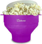 Salbree Microwave Popcorn Popper, Silicone Popcorn Maker, Collapsible Bowl BPA Free