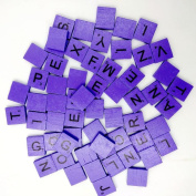100 Wooden Scrabble Tiles Black Letters Numbers For Crafts Wood Alphabets ,By Gbell