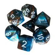 7pcs/Set TRPG Game Dungeons & Dragons Polyhedral D4-D20 Multi Sided Acrylic Dice ,By Gbell