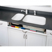 Rev-A-Shelf 6541-36SC-50 Slim Line 90cm Slim Series Sink Front Tip Out Trays with, Almond