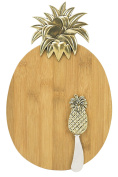 Boston Warehouse Golden Pineapple Cheeseboard and Spreader Set