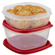 Rubbermaid Easy Find Lids Food Storage Container, 4-Piece Set, Red