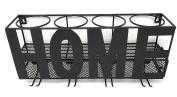 Gianna's Home Metal Wall Mounted Wine Rack and Cork Holder