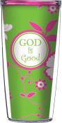 God Is Good On Green Tiles Traveller 470ml Tumbler Cup
