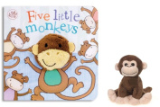 Little Learners Finger Puppet Board Book - Five Little Monkeys Little Learners Finger Puppet Board Book - Five Little Monkeys and Plush Monkey