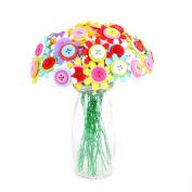 AISme DIY Flowers Button Toys Creative Artificial Flower Bouquet Puzzle Kid DIY Crafts Educational Toys