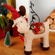 UKnows Cute Deer Plush Doll Figurine Toys Christmas Ornaments For Home Decorations