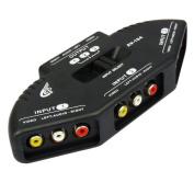 AGPTek 3 In 1 Out AV RCA Switch Splitter & 1m RCA Cable