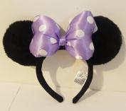 Disney Parks Purple Polka Dot Plush Minnie Mouse Ears Headband