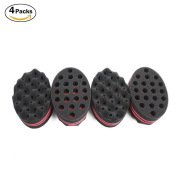 HALLO Big Holes Barber Hair Brush Sponge Dreads Locking Twist Afro Curl Coil Wave Hair Care Tool