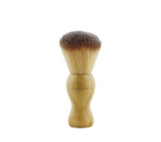 Antrader Beige Barber Hair Brush Soft Bristle Neck Duster Stylist Sweep Tool