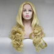 Lanting 180% Density Synthetic Lace Front Wig Heat Resistant With Baby Hair Blonde Colour Wave Beauty Front Lace Synthetic Wig 41cm -70cm . 60cm