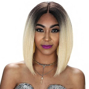 Kerrywigs Brazilian Hair Grade 10A Ombre #613 Bob Cut Lace Front Human Hair Wigs For Black Women Glueless Short Blonde Full Lace Wigs Pre Plucked Baby Hair 130 Density-20cm full lace wig