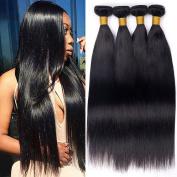 7A Peruvian Virgin Human Hair 4 Bundles 100% Raw Unprocessed Human Hair Extension Machine Double Weft Silky Straight Wave Peruvian Hair Weaving Shipping Free