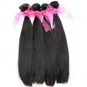 Straight Brazilian Virgin Hair Extension 4 Bundles Thick and Soft Unprocessed Human Hair Weaves Natural Colour 22 22 22 22