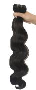 SEUEYD Brazilian Virgin Human Hair 2# Body Wave 1 Bundle Remy Human Hair Extensions Hair - 100g/pc,41cm