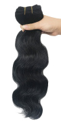 SEUEYD Brazilian Virgin Human Hair 1# Body Wave 1 Bundle Remy Human Hair Extensions Hair - 100g/pc,41cm .