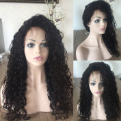 Qingdao Ocean Star Curly Natural Colour Front Lace Wigs 130% Density Brazilian Virgin Remy Human Hair For Black Women Natural Hairline