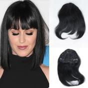 TopFeeling Natural Colour Brazilian Human Hair Bangs Clip on real hair Short Straight Hair Extension For Women