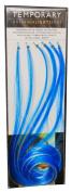 BLUE AND PLATINUM TEMPORARY HAIR HIGHLIGHTS
