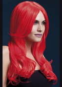Ladies Long Neon Red Fever Khloe Wig