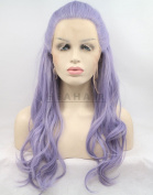 HEAHAIR New Style Purple Synthetic Braided Wavy Lace Front Wig HS0034