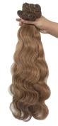 SEUEYD Brazilian Virgin Human Hair 27# Body Wave 1 Bundle Remy Human Hair Extensions Hair - 100g/pc,41cm