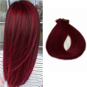 Tape in Human Hair Extensions 60cm 20 Pcs Long Straight Skin Weft Remy Hair Women's Hairpieces