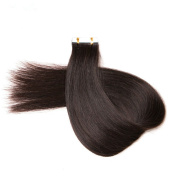 PARAHAIR 41cm Natural Black (#1b) 20pcs Tape In Human Hair Extensions