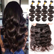 YUSHUO Beauty Body Wave Human Hair Extensions Brazilian Virgin 100% Unprocessed Remy hair 50g/Bundles
