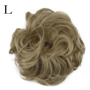 Lisin Women's Curly Messy Bun Extensions Scrunchy Hair Twirl Piece Scrunchie Wigs Extensions Hairdressing Donut Hair Hair Piece Wig