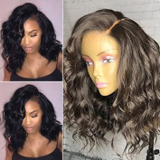 FENJUN HAIR 360 Lace Frontal Wigs 150% Density Lace Front Human Hair Wigs For Black Women Water Wave Brazilian Virgin Hair Pre Plucked 360 Lace Wigs With Baby Hair