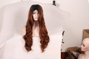 Korea Tech Lace Front Wigs 250% High Density L part Body Wave Wig Synthetic Black and Blonde Wig Free Part Heat Resistant Fibre Hair Wigs For Black and White Women