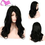 Korea Tech 250% High Density L part Body Wave Wig Synthetic Wig Lace Front Wigs Free Part Heat Resistant Fibre Hair Wigs For Black and White Women