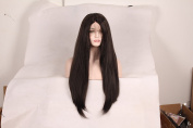 Korea Tech 250% High Density Yaki Straight Wig Synthetic Wig Lace Front Wigs Free Part Heat Resistant Fibre Hair Wigs For Black and White Women