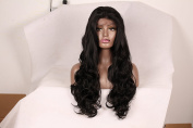 Korea Tech 250% High Density Synthetic Wig Body Wave Lace Front Wigs Free Part Heat Resistant Fibre Hair Wigs For Black and White Women