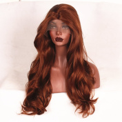 Stylistlee 250% High Density Synthetic Body Wave #30 Lace Front Wigs L Part Heat Resistant Fibre Hair Wigs For Women