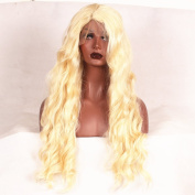 Stylistlee 250% High Density Synthetic Long Nature Body Wave #613 Lace Front Wigs L Part Heat Resistant Fibre Hair Wigs For Women