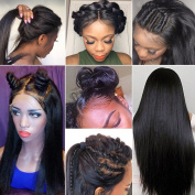 Brazilian Glueless Lace Front Wigs Silk Straight Virgin Human Hair Wig With Baby Hair 130% Density Lace Front Human Hair Wigs Pre Plucked