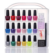 MAKARTT Universal Nail Polish Holder for 36 bottles with Large Separate Compartment for Tools, Space Saver